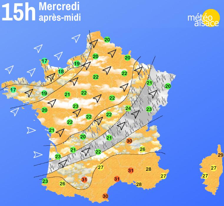 la météo en France cet après-midi
